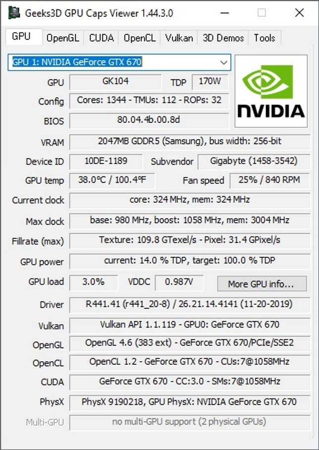 GPU Caps Viewer 1.45.1